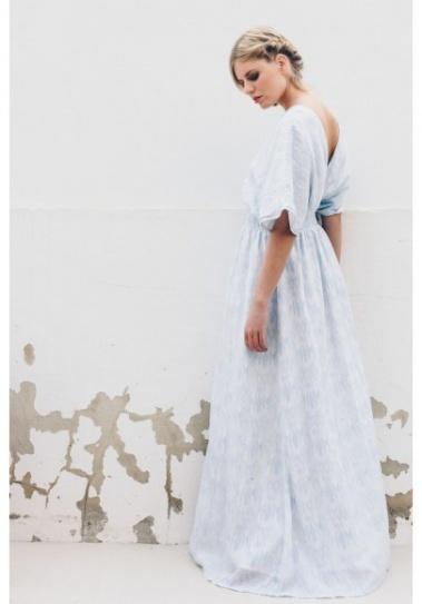 Vestido Largo Umboi Azul Claro