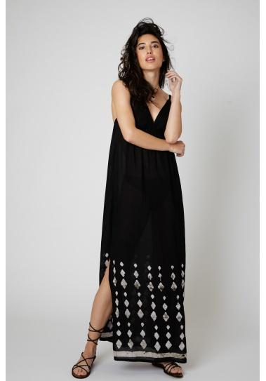 Vestido Largo Balbi Negro