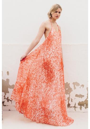 Vestido Largo Kikai Rojo